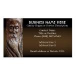 Cara tallada en madera plantillas de tarjeta de negocio