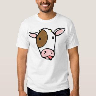 Cara tonta de la lengua de la vaca poleras