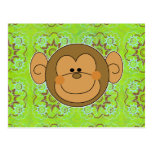 Cara tonta linda del mono postal