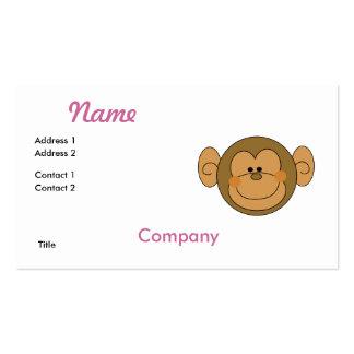 Cara tonta linda del mono tarjetas de visita