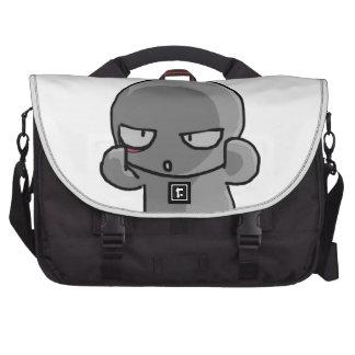Cara torcida del pequeño bebé gris bolsas para portatil