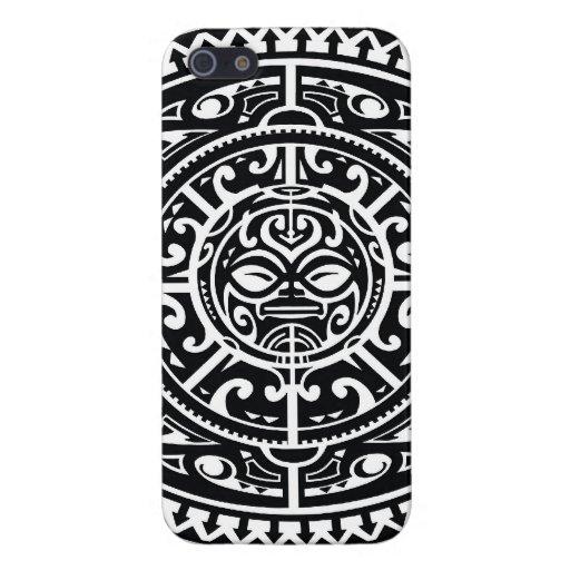 Cara tribal polinesia 1 iPhone 5 cárcasas