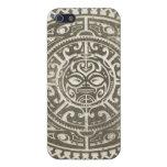 Cara tribal polinesia Brown iPhone 5 Cobertura