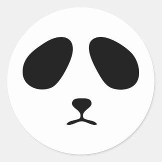 Cara triste de la panda pegatina redonda