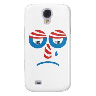 Cara triste de Obama 2012 Funda Para Galaxy S4