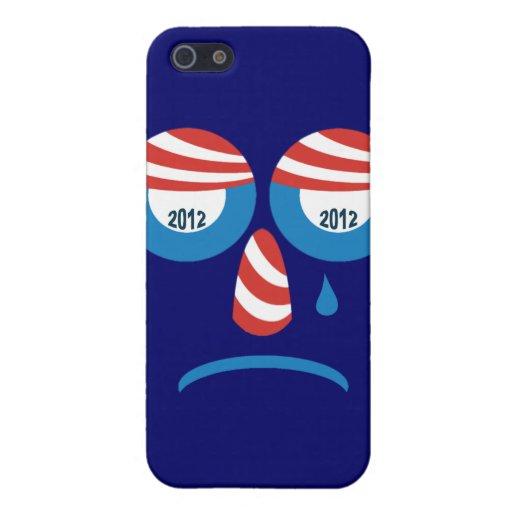 Cara triste de Obama 2012 iPhone 5 Fundas