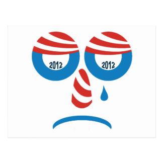 Cara triste de Obama 2012 Tarjeta Postal