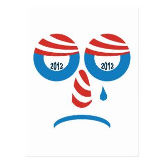 Cara triste de Obama 2012 Tarjetas Postales