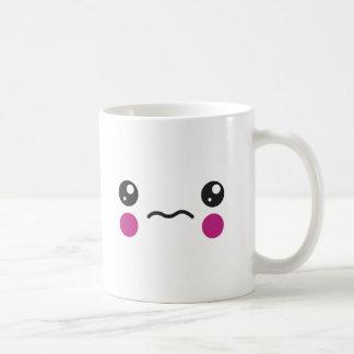 Cara triste taza de café
