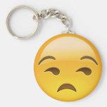 Cara Unamused Emoji Llavero