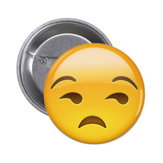 Cara Unamused Emoji Pin Redondo 5 Cm