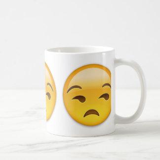Cara Unamused Emoji Taza
