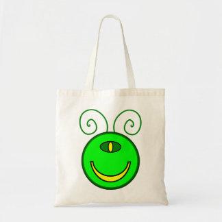 Cara verde del monstruo de los Cyclops Bolsa Tela Barata