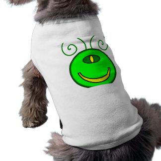 Cara verde del monstruo de los Cyclops Playera Sin Mangas Para Perro