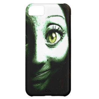 Cara verde divertida del extranjero del zombi funda para iPhone 5C