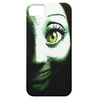 Cara verde divertida del extranjero del zombi funda para iPhone SE/5/5s