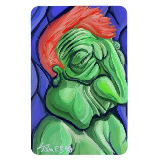 Cara verde iman rectangular