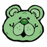 cara verde linda del oso esculturas fotograficas