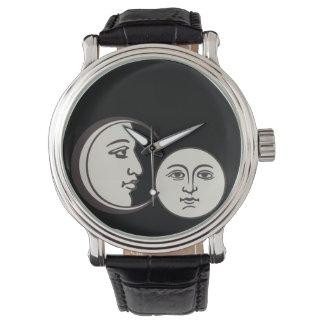 cara y luna viejas del vintage relojes de mano