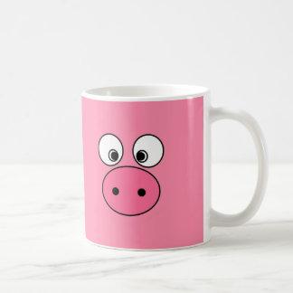 ¡Cara y vago rosados del cerdo! Taza Básica Blanca