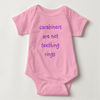 carabiners are not teething rings baby creeper