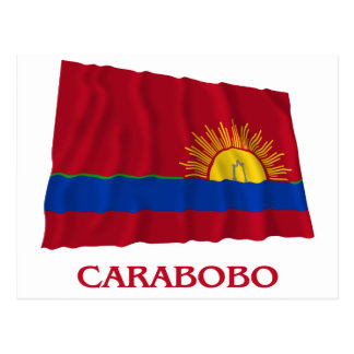 Carabobo Waving Flag with Name Postcard