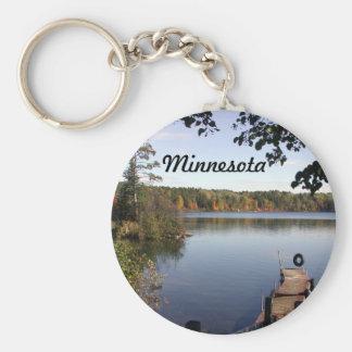 Carabou lake MN Basic Round Button Keychain