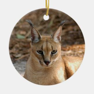 Caracal Lynx Christmas Ornament