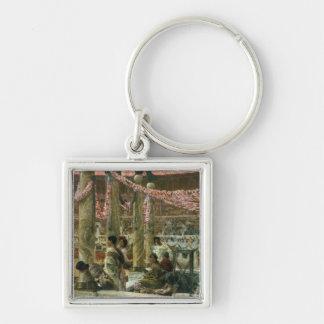 Caracalla and Geta, 1907 (oil on canvas) Keychain