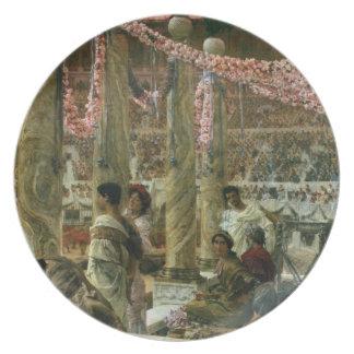 Caracalla and Geta, 1907 (oil on canvas) Melamine Plate