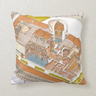 Caracalla baths Rome Throw Pillows