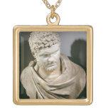 Caracalla, el mármol romano cuirassed el busto, AN Colgantes