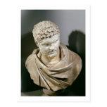 Caracalla, el mármol romano cuirassed el busto, AN Postal