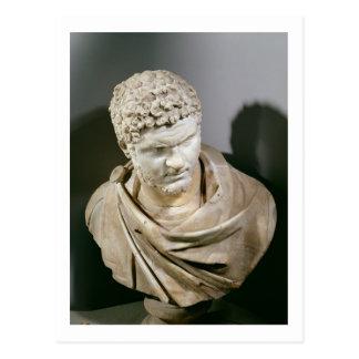 Caracalla, el mármol romano cuirassed el busto, postal