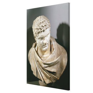 Caracalla, Roman marble cuirassed bust, 212-217 AD Canvas Print
