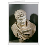 Caracalla, Roman marble cuirassed bust, 212-217 AD Greeting Cards