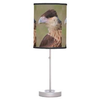 Caracara con cresta lámpara de mesa