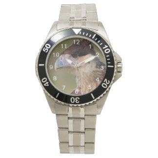 Caracara con cresta reloj de mano