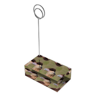 Caracara con cresta soportes de tarjeta de mesa