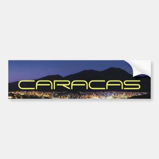 Caracas by night pegatina para auto