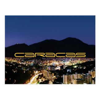 Caracas by night postcard