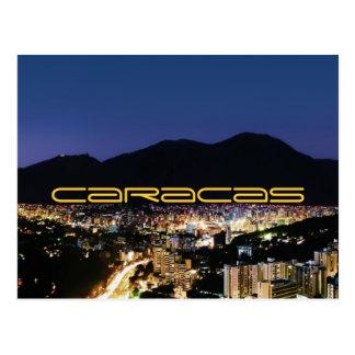 Caracas by night postal