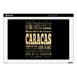 "Caracas City of Venezuela Typography Art Skin For 17"" Laptop"