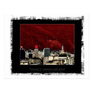 Caracas is coverd with blood postcards