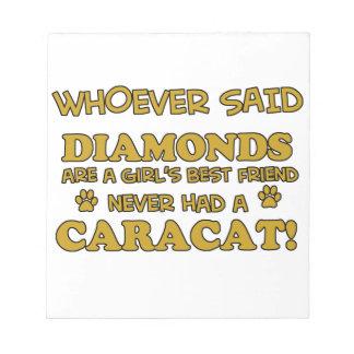 caracat better than Diamonds Memo Note Pads
