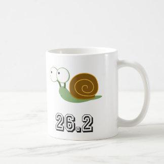 Caracol 26,2 (maratón) taza básica blanca