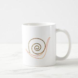 Caracol artístico tazas de café