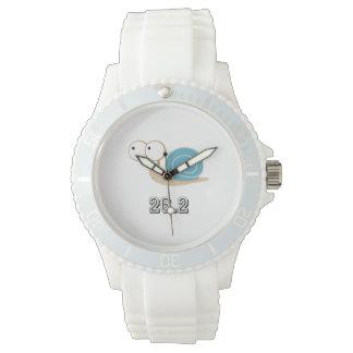 Caracol azul 26,2 (maratón) relojes de mano