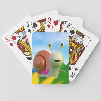 Caracol curioso baraja de póquer