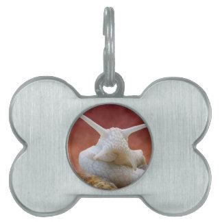 Caracol de Borgoña del retrato Placas De Nombre De Mascota